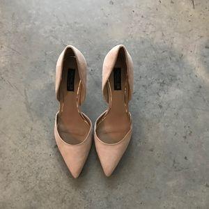 Rachel Zoe Beige Pointed Leather Heels Pumps SZ 10